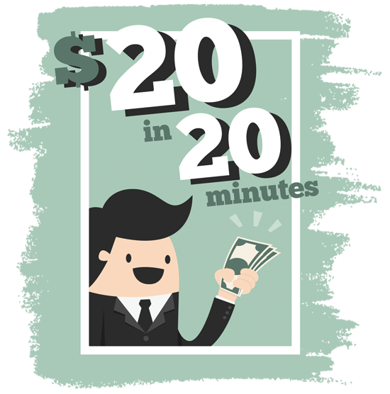 Use Our NEW $20 in 20 Minutes Tutorial to Work 1099!